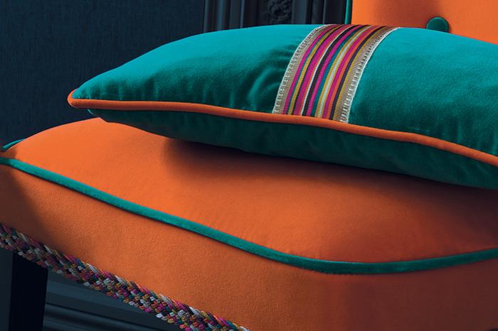 Cuscini con passamaneria Casamance