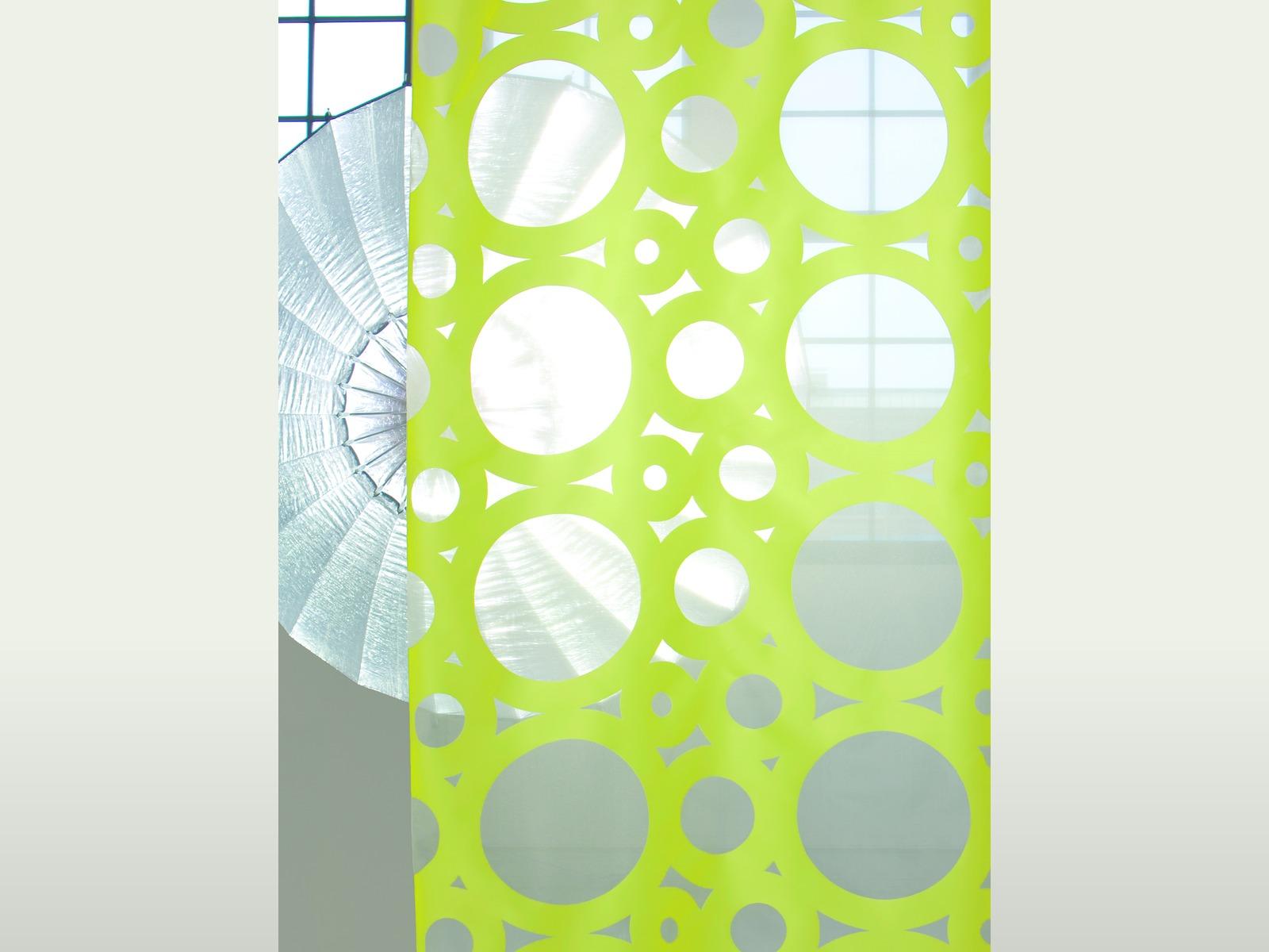 Organza con disegno geometrico a bolle