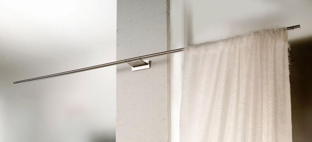 Piatta Intersil in acciaio con staffa unica centrale