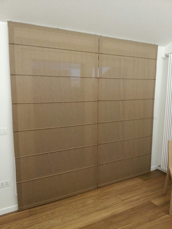 Tenda pacchetto modello steccato tessuto trevira