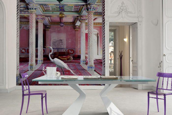 Parato decorativo salone - Inkiostro Bianco