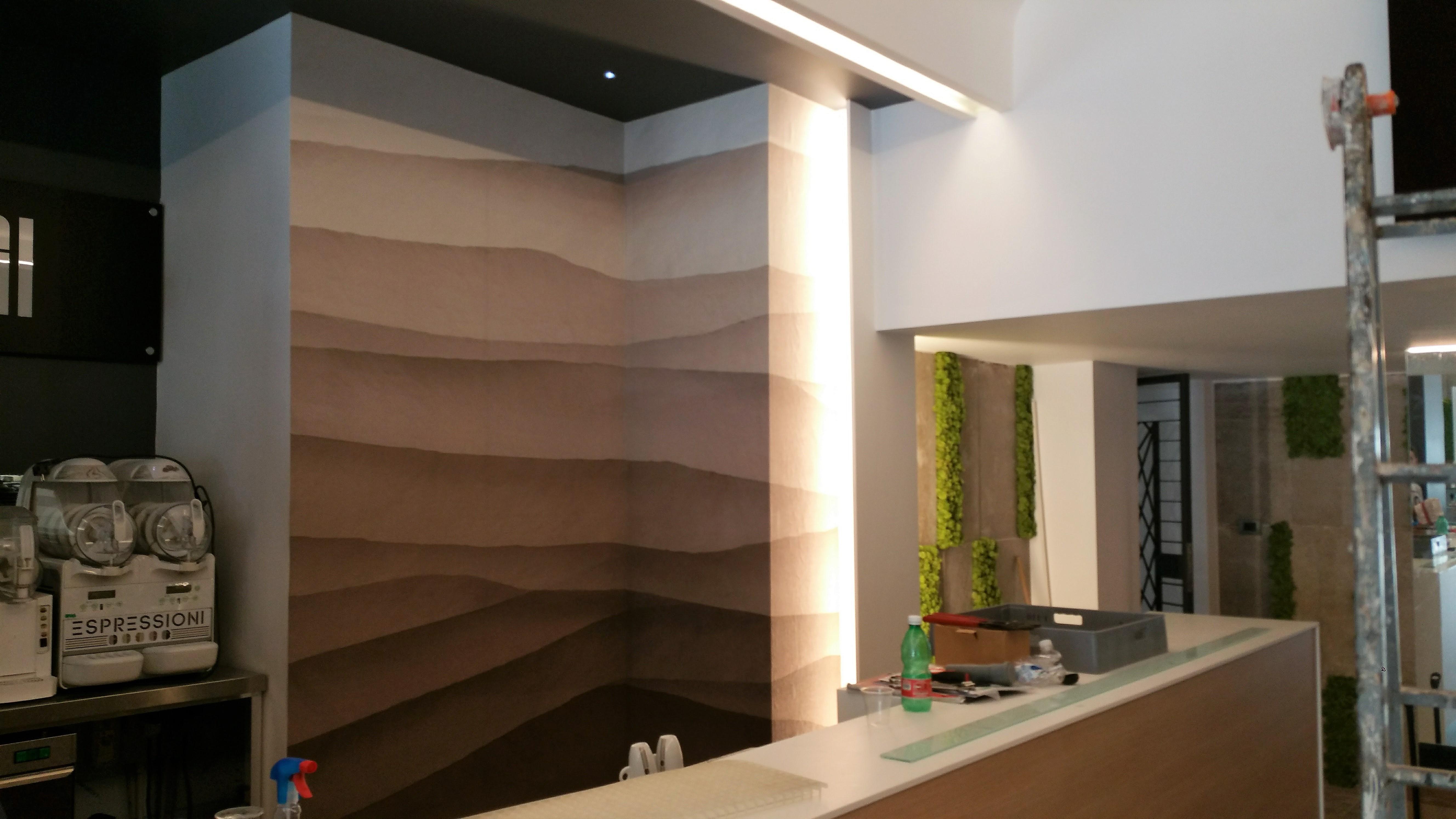 Parato personalizzato – Fornitore Inchiosto Bianco – Particolare realizzato adhoc su parete