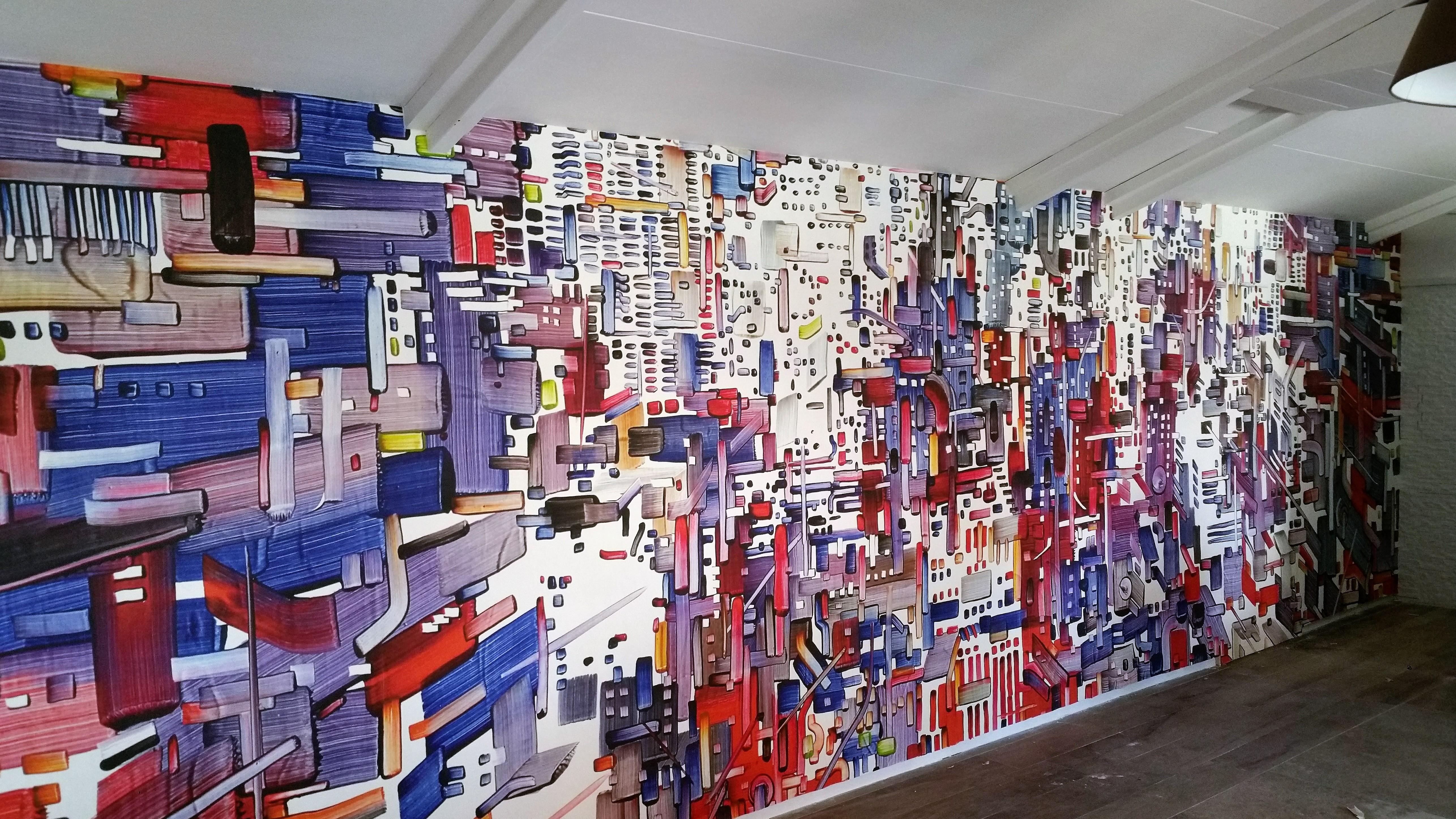 Parato personalizzato – Fornitore Inchiosto Bianco – Particolare a misura su parete - Artista Giuseppe Linardi