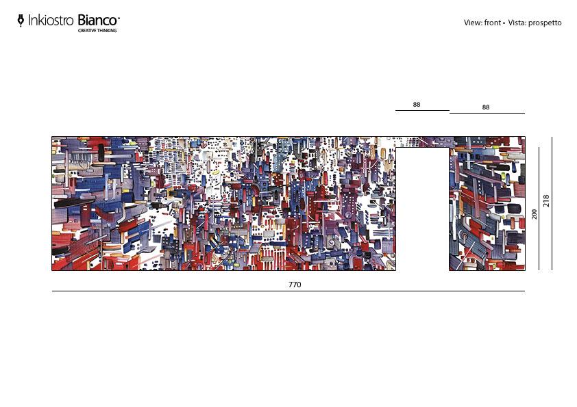 Progettazione parato a misura su parete – Fornitore Inchiosto Bianco